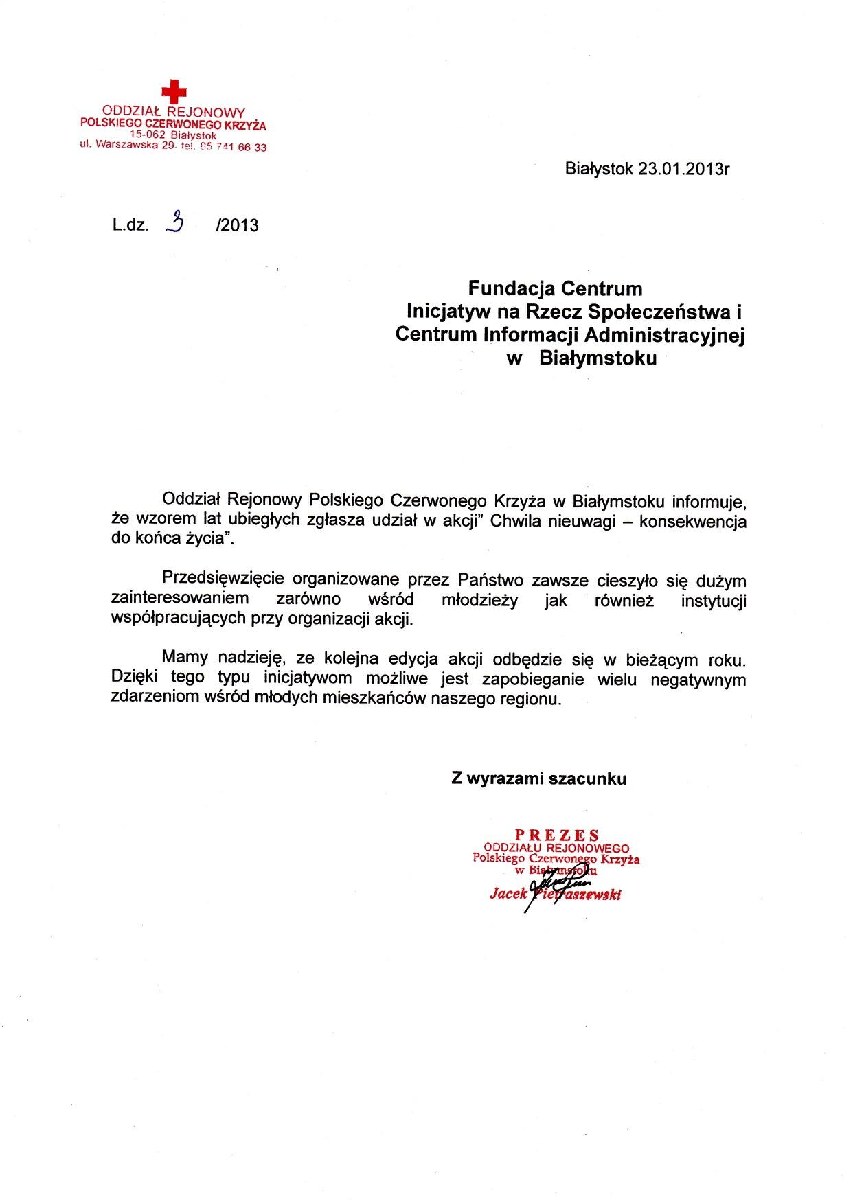 Polski Czerwony Krzyż – Podlaski Oddział Okręgowy